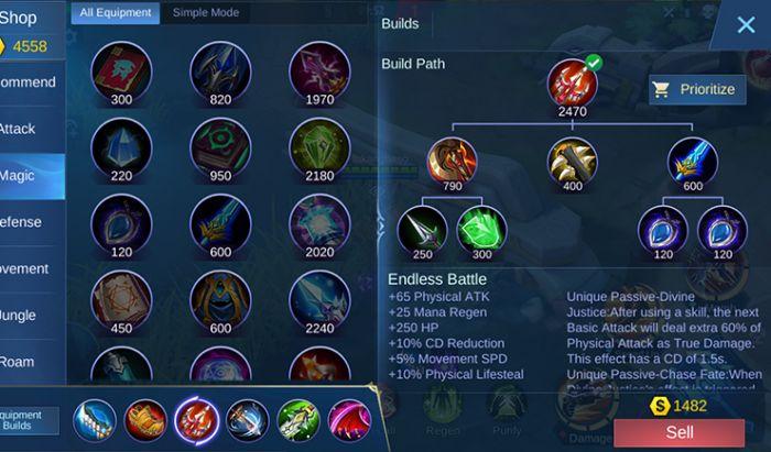 Atribut Endless Battle Mobile Legends. Tangkapan Layar