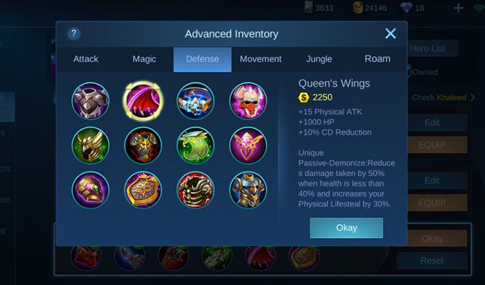Build Item Khaleed Mobile Legends. Tangkapan Layar
