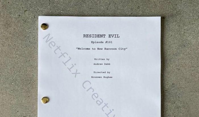 Foto draft naskah Resident Evil yang dipamerkan oleh akun media sosial Netflix.