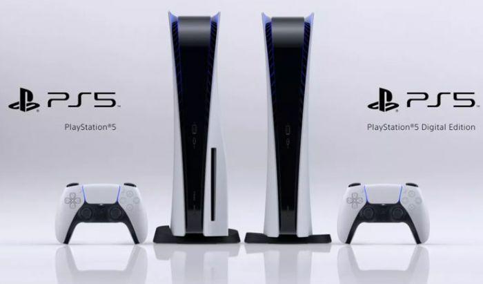 Dua varian PS5 dengan atau tanpa Blu Ray Disc.