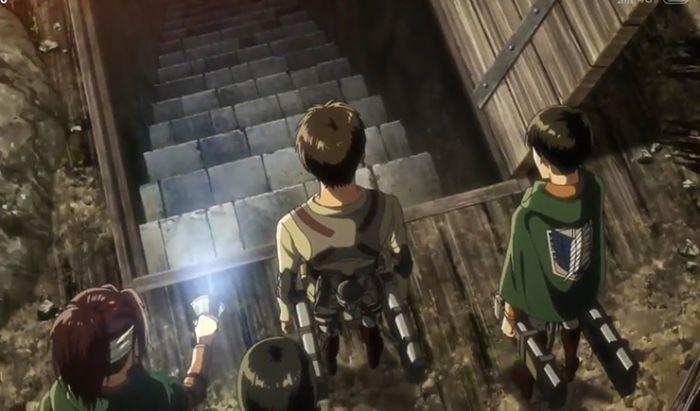 Ruang bawah tanah rumah Eren di Attack on Titan.
