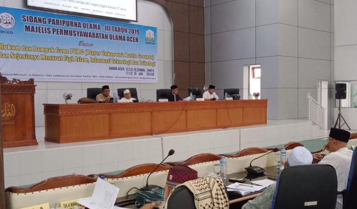 Majelis Permusyawaratan Aceh memutuskan sidang untuk mengaharamkan game.