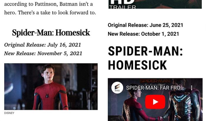 Film Spider-Man 3 Bakal Mengusung Judul Homesick