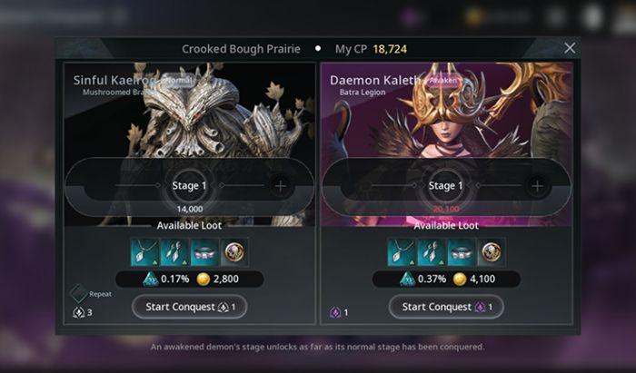 Demon Conquest. Fitur Permainan V4. Tangkapan Layar.