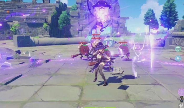 Gameplay dari Genshin Impact.