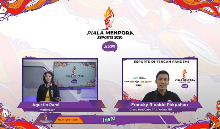 Virtual Media Talk Piala Menpora Esports 2020 AXIS.