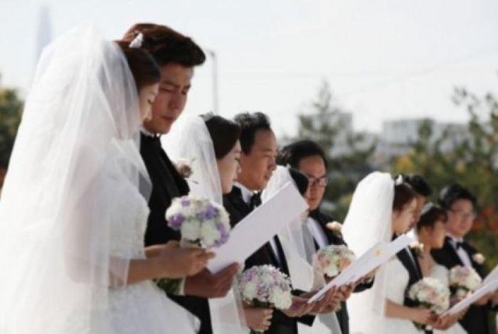 Potret pernikahan di Korea.