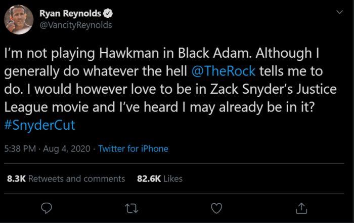 Ryan Reynolds Bakal Hadir di Justice League Snyder's Cut
