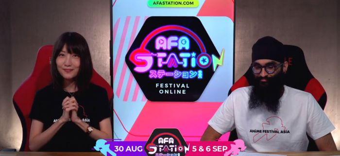 Reiko dan Ash dalam pembukaan AFA Station Festival 2020.
