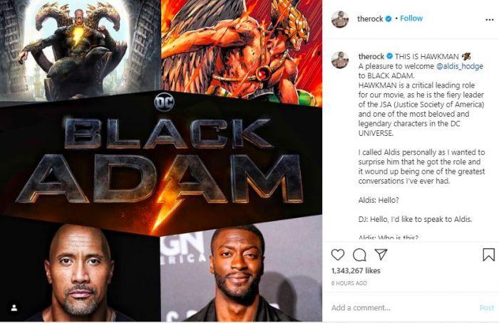 Black Adam Temukan Aktor untuk Memerankan Hawkman