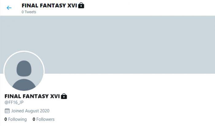 Akun Twitter Final Fantasy XVI