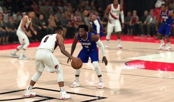 Tampilan gameplay dari NBA 2K21.