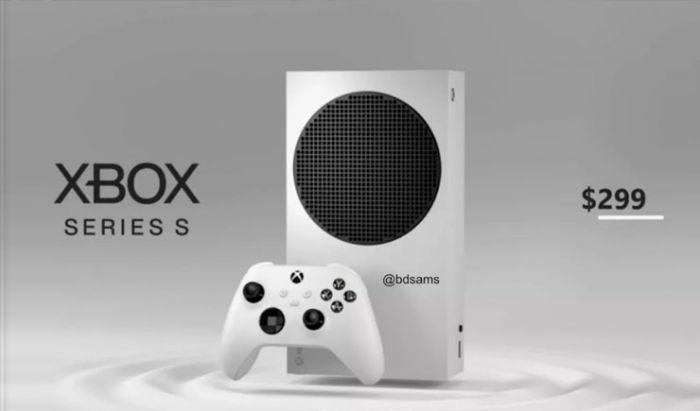 """Tampilan konsol Xbox Series S yang ramping dan """"unik""""."""