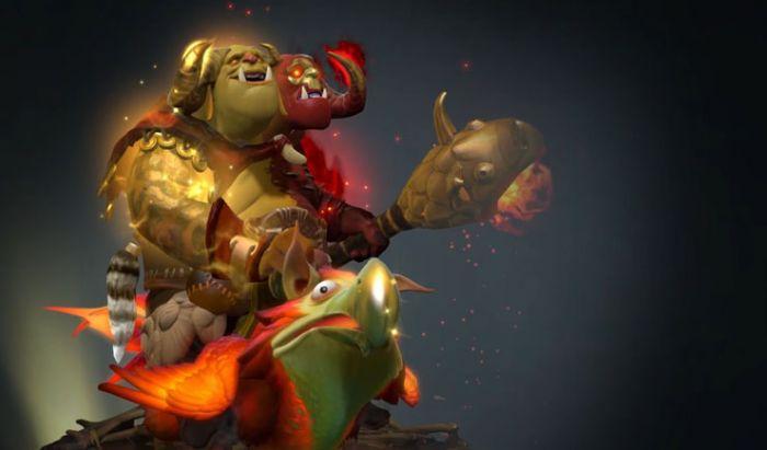 Penampakan Arcana Ogre Magi bertajuk Flocker's Gamble.