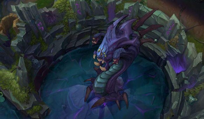 Sosok Baron, monster mengerikan di semesta Runeterra.