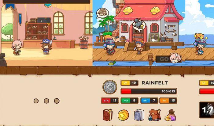 Post Knight memadukan gameplay platformer dan RPG.