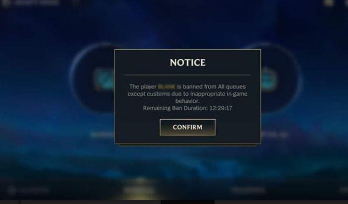 Mereka yang mendapat Ban karena AFK hanya bisa main game Custom.