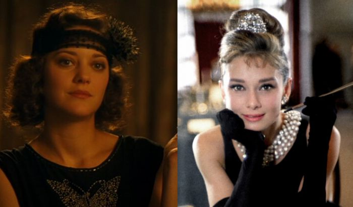 Adriana dalam film Midnight in Paris (2011) dan Holly Golightly dalam Breakfast at Tiffany's (1961).