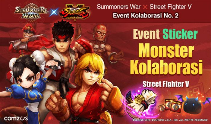 Kolaborasi terbaru Summoners War dan Street Fighter