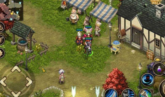 Inotia mengusung gaya pixel yang kental seperti gaya game klasik.
