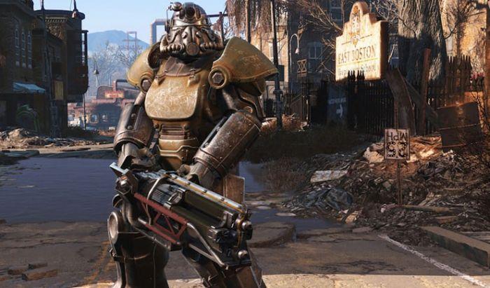 Baju Power Armor yang sangat ikonis di seri Fallout.