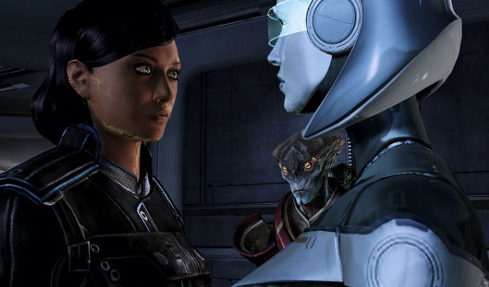 Sepasang karakter lesbian di Mass Effect.