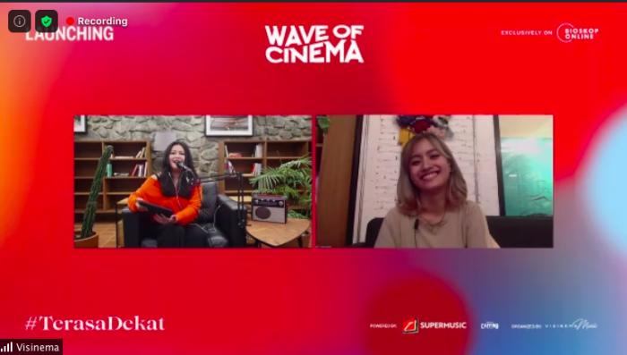 Saron Sakina dalam Press Conference Virtual Wave of Cinema.