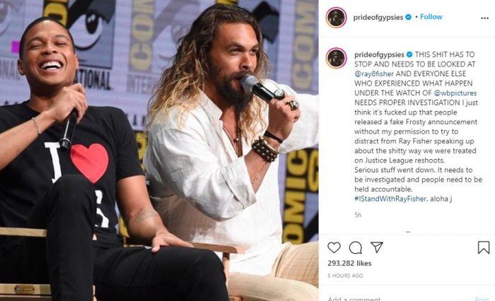 Jason Momoa Dapat Perlakuan Buruk Saat Syuting Ulang Justice League