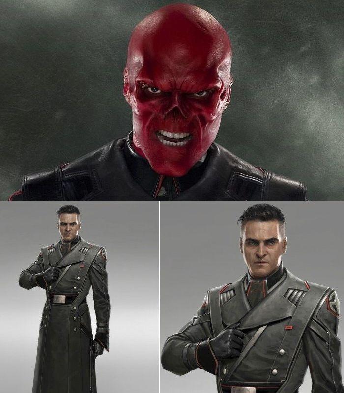 Ilustrasi karakter Red Skull jika diperankan Joaquin Phoenix.