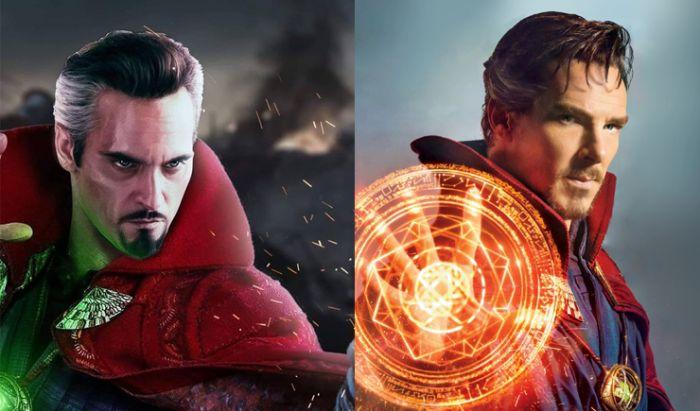 Ilustrasi karakter Doctor Strange jika diperankan Joaquin Phoenix.