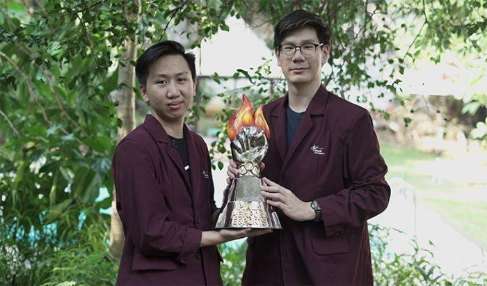 James dan Tongpang tim Binus University. Dok KINCIR