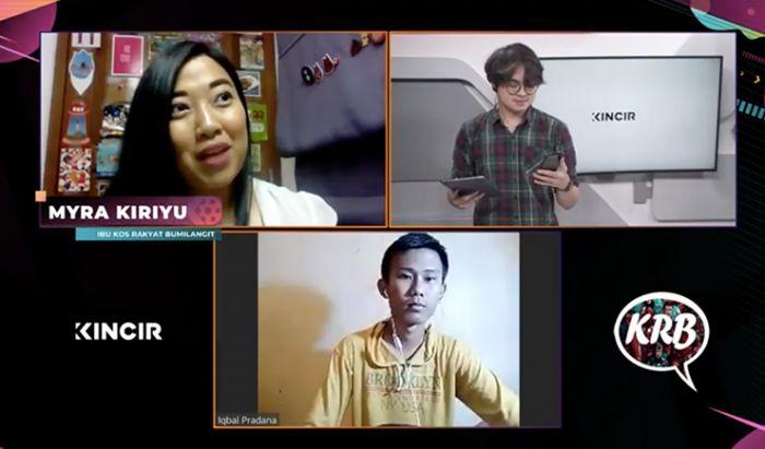 Dalam acara Community Talk KINCIR Cinema Club bersama Myra Kiriyu dan Iqbal Pradana dari Katha Rakyat BumiLangit (28/9),