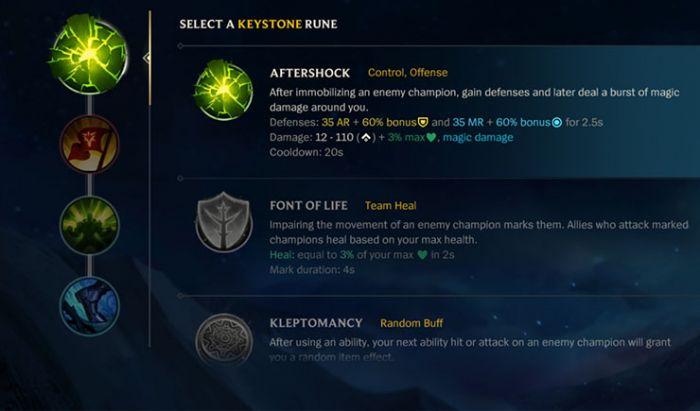 Ada empat jenis Rune yang harus pemain bentuk untuk build setiap Champion.