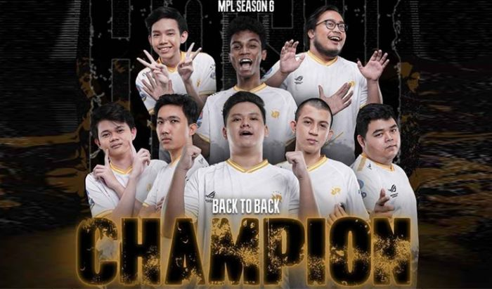 Back-to-back champion MPL Season 6.