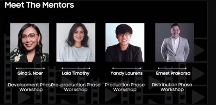 Para mentor  acara Samsung Galaxy Movie Studio dan Festival Film Indonesia 2020.