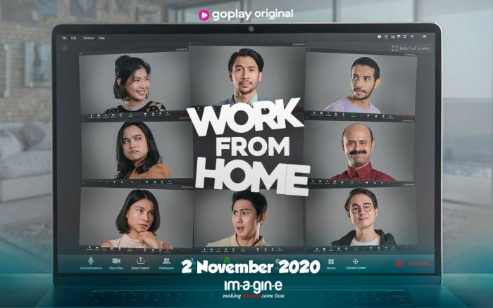 Poster Serial Work from Home GoPlay