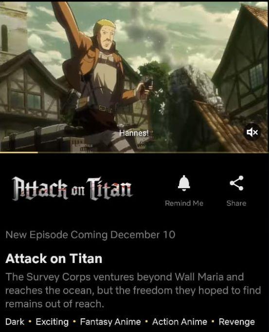 Attack on Titan Season 4 Netflix