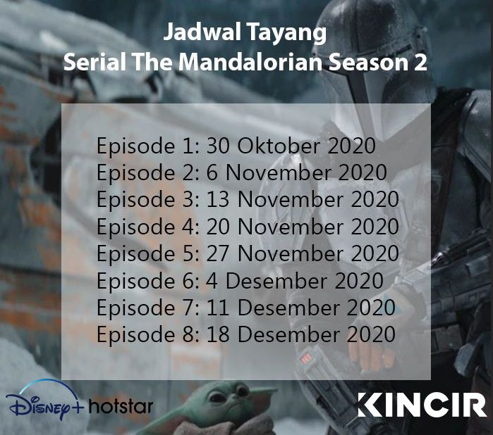 Jadwal Serial The Mandalorian Season 2.
