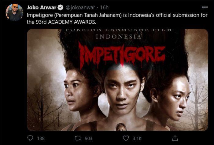 Perempuan Tanah Jahanam Jadi Wakil Film Indonesia untuk Oscar 2021