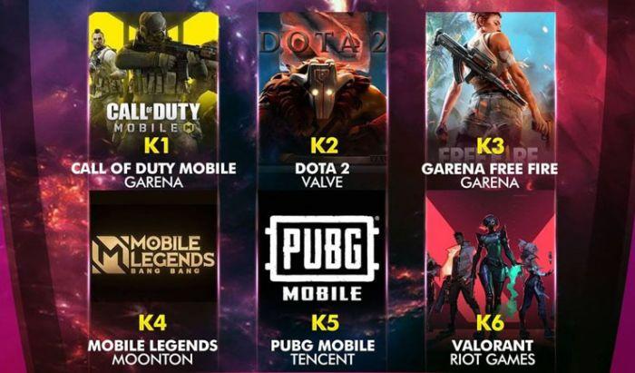 Indonesian Esports Award 2020 - Game Esports Favorit