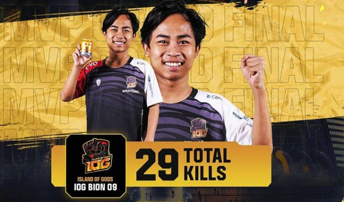 Most Kill diraih oleh BION sebagai pemain dari Island of Gods