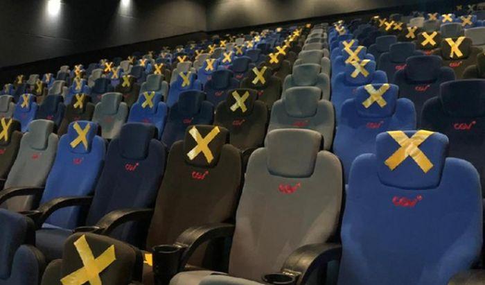 Tempat duduk di bioskop CGV.