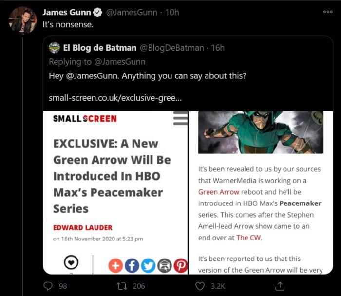 Green Arrow Bakal Hadir di Serial Peacemaker Garapan James Gunn?