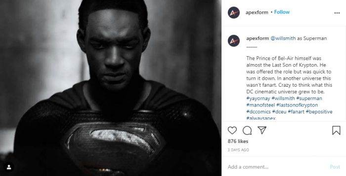 Inilah Jadinya Jika Will Smith Enggak Menolak Peran Superman