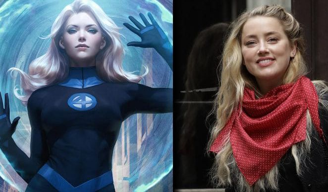 Marvel Gaet Amber Heard Jadi Invisible Woman di Film Fantastic Four