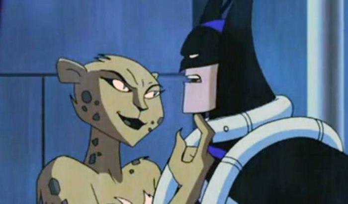 Cheetah dan Batman.