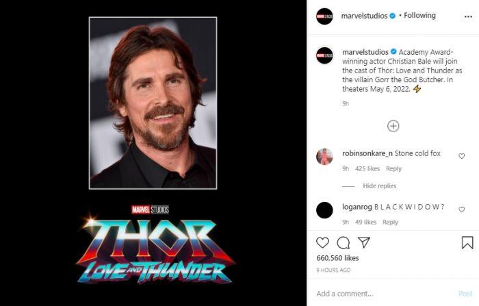 Inilah Villain Marvel yang Diperankan Christian Bale di Thor: Love and Thunder