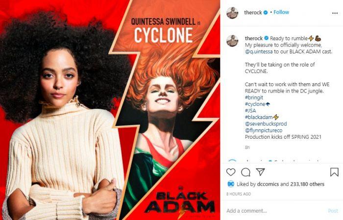 Black Adam Temukan Aktris Untuk Memerankan Cyclone