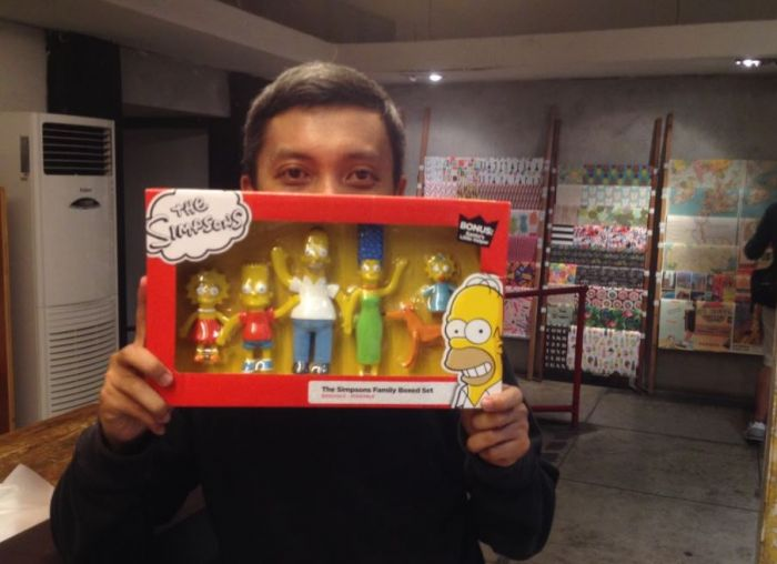 Myrza, Ketua Komunitas The Simpsons Indonesia.