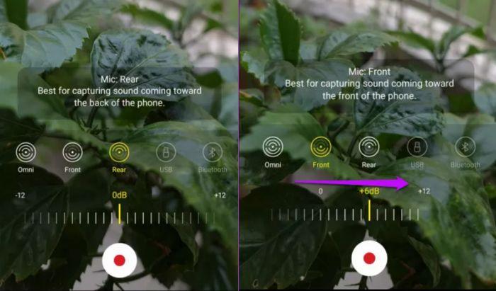 Antibising dengan fitur microphone control di Samsung Galaxy Note20.